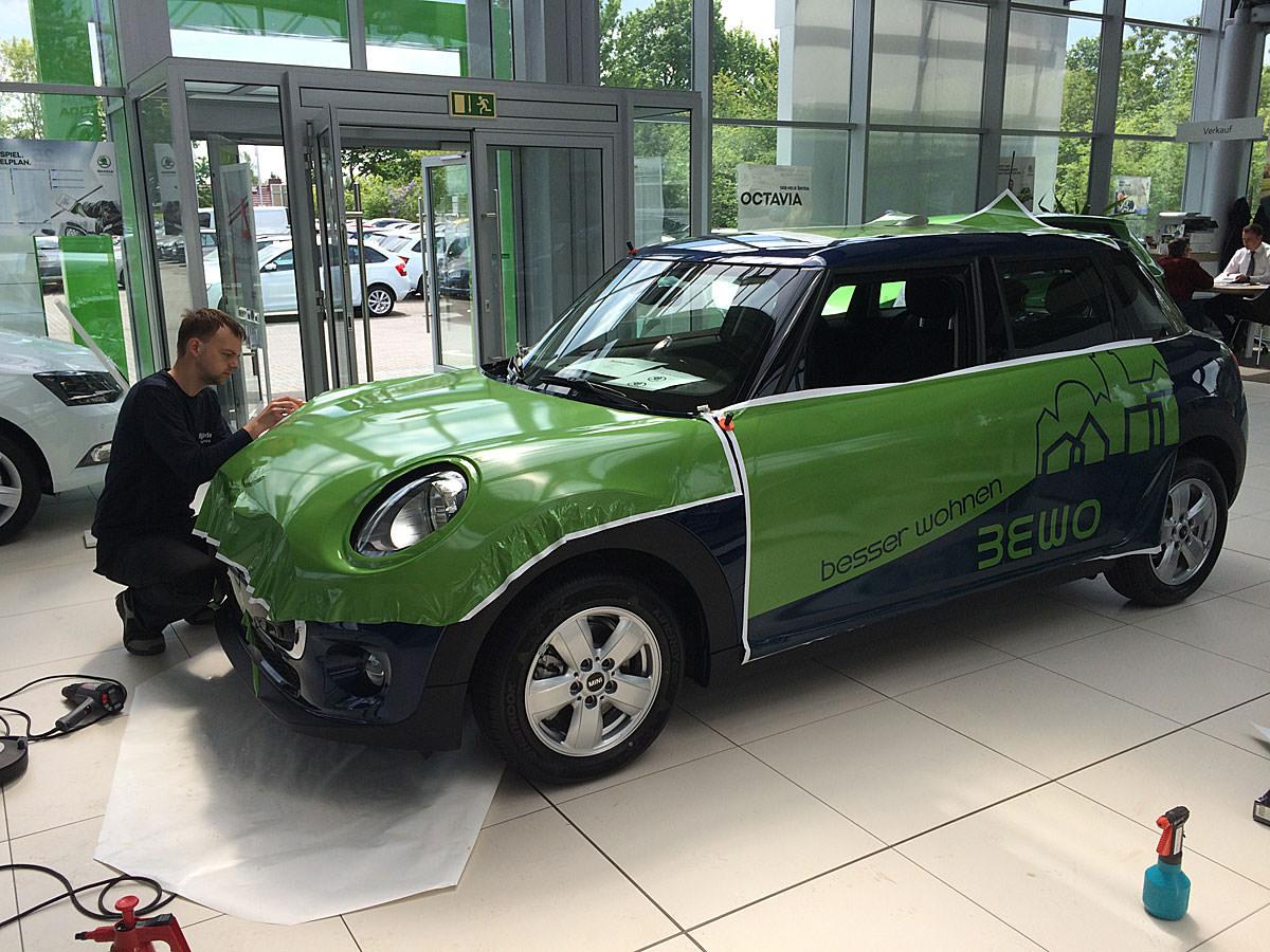 Car-Wrapping in Bergen auf Rügen von Glenn Martin Trim-Line Design